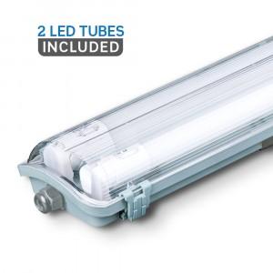 Αδιάβροχο φωτιστικό LED 2x18W 1200mm Φυσικό λευκό 4000K VTAC 6387
