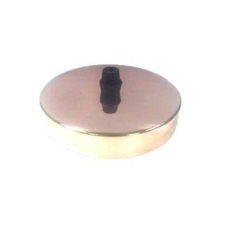 Διακοσμητική ροζέτα οροφής ροζ χαλκός μεταλλική Φ10x2,5cm τύπου vintage 147-23076.