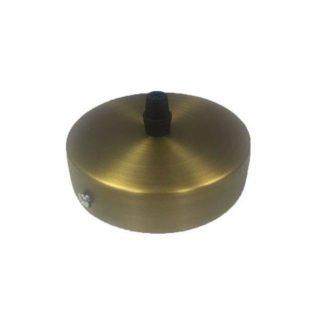 Διακοσμητική ροζέτα οροφής χρυσό μπρονζέ μεταλλική Φ10x2,5cm τύπου vintage 147-23077