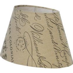 Καπέλο φωτιστικού 160mm VINTAGE από τυπωμένο καφέ και μπεζ ύφασμα με μοτίβο κείμενα Φ250 49986