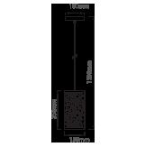 Μονόφωτο κρεμαστό φωτιστικό Μέταλλο με Matt Λευκό σώμα VTAC 3826