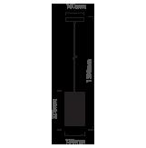 Μονόφωτο κρεμαστό φωτιστικό Μέταλλο με Matt Μαύρο σώμα VTAC 3828