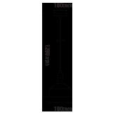 Μονόφωτο κρεμαστό φωτιστικό Πλαστικό & αλουμίνιο με Γκρι σώμα VTAC 3922-1