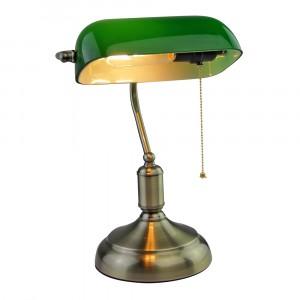 Φωτιστικό γραφείου Vintage E27 γυαλί-μέταλλο πράσινο 3912
