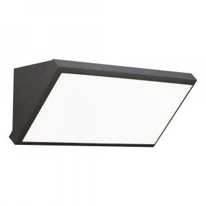 LED αδιάβροχη απλίκα 12W γωνία IP65 3000K Θερμό λευκό Γκρι σώμα VTAC 8233