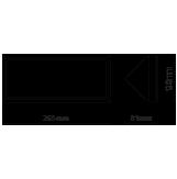 LED αδιάβροχη απλίκα 12W γωνία IP65 4000K Φυσικό λευκό Γκρι σώμα VTAC 8234-1