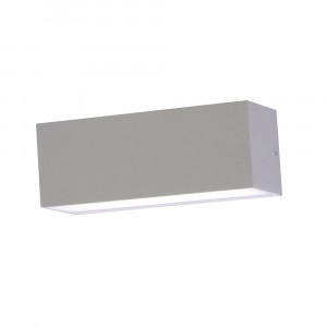 LED αδιάβροχη απλίκα 12W Up-Down IP65 3000K Θερμό λευκό Γκρι σώμα VTAC 8242