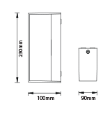 LED αδιάβροχη απλίκα 12W Up-Down IP65 4000K Φυσικό λευκό Γκρι σώμα VTAC 8243-1