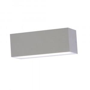 LED αδιάβροχη απλίκα 12W Up-Down IP65 4000K Φυσικό λευκό Γκρι σώμα VTAC 8243