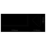 LED αδιάβροχη απλίκα 20W γωνία IP65 4000K Φυσικό λευκό Γκρι σώμα VTAC 8237-1