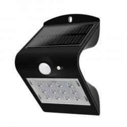 LED ηλιακό φωτιστικό 1.5W 4000K Φυσικό λευκό με μαύρο σώμα VTAC 8277