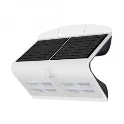 LED ηλιακό φωτιστικό 6.8W 4000K Φυσικό λευκό με λευκό σώμα VTAC 8278