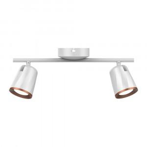 LED φωτιστικό οροφής ή τοίχου διπλό 12W 4000K Φυσικό λευκό Λευκό σώμα VTAC 8256