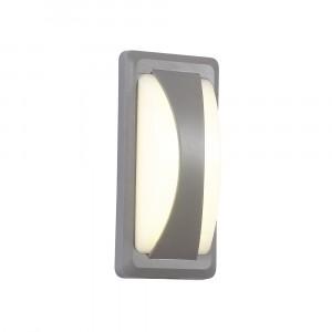 LED αδιάβροχη απλίκα 12W Bulkhead IP65 6400K Λευκό Γκρι σώμα VTAC 8247
