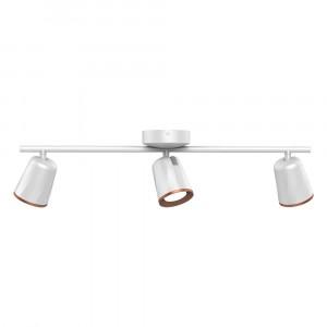 LED φωτιστικό οροφής ή τοίχου τριπλό 18W 4000K Φυσικό λευκό Λευκό σώμα VTAC 8260