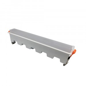 LED panel χωνευτό γραμμικό 20W 3000K Θερμό λευκό με λευκό σώμα VTAC 6413