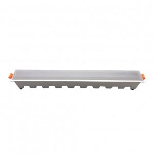 LED panel χωνευτό γραμμικό 30W 3000K Θερμό λευκό με λευκό σώμα VTAC 6416