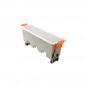 LED panel χωνευτό γραμμικό flat 10W 6400K Λευκό με λευκό σώμα VTAC6403
