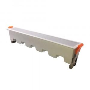 LED panel χωνευτό γραμμικό flat 20W 3000K Θερμό λευκό με λευκό σώμα VTAC 6404