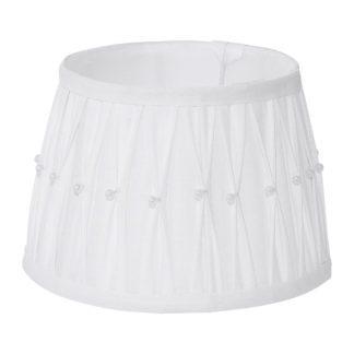 Καπέλο φωτιστικού 1+1 VINTAGE 49961 λευκό με χάντρες