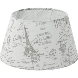 Καπέλο φωτιστικού 1+1 VINTAGE 49964 λευκό με γκρι σχέδιο
