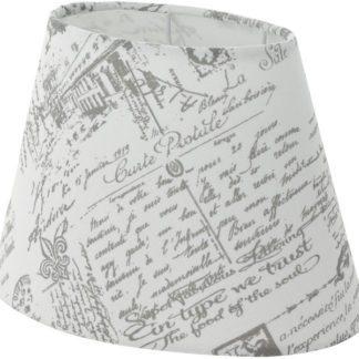 Καπέλο φωτιστικού 1+1 VINTAGE 49965 οβάλ λευκό με γκρι