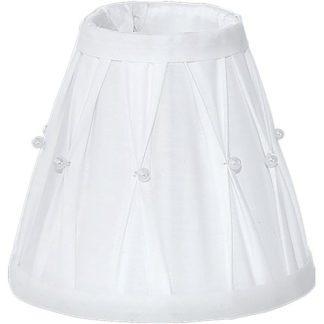 Καπέλο φωτιστικού VINTAGE 49959 λευκό με χάντρες