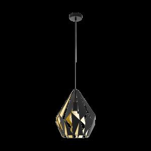 Κρεμαστό φωτιστικό CARLTON 1 49931 μαύρο με χρυσό