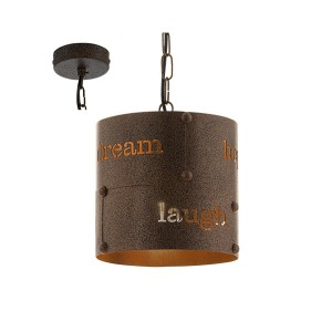 Κρεμαστό φωτιστικό COLDINGHAM 49794 σε χρώμα σκουριάς Ø200mm