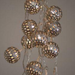 Σετ Φωτιζόμενες Διακοσμητικές Mπάλες Νικελ 10L LED CW