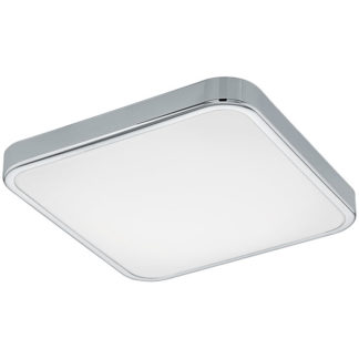 Φωτιστικό οροφής τετράγωνο MANILVA 1 96229 χρωμιομένο ατσάλι & κάλυμμα από λευκό ακρυλικό πλαστικό