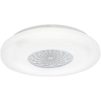 Φωτιστικό οροφής-τοίχου CAPASSO 1 96026 λευκό ατσάλι & κάλυμμα από λευκό χρωμιομένο ακρυλικό πλαστικό Ø400mm