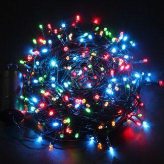 LED 80 Φωτάκια Επεκτεινόμενα Πράσινο Καλώδιο Πολύχρωμο Λαμπάκι 5.5μ