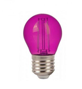 Λάμπα LED E27 G45 Filament 2W Ροζ γυαλί vtac 7410
