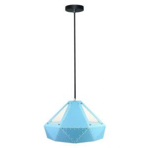 Μονόφωτο κρεμαστό φωτιστικό Patel Prism με Γαλάζιο σώμα vtac 3946