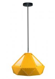 Μονόφωτο κρεμαστό φωτιστικό Patel Prism με Κίτρινο σώμα vtac 3947