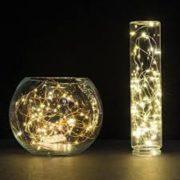Φωτάκια Χαλκού 20 LED 2m με Μπαταρία Θερμό Λευκό 2