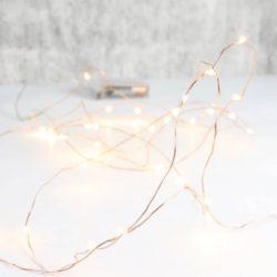 Φωτάκια Χαλκού 20LED 2m, θερμό φως, με Μπαταρία κωδ: 90-05-POL140