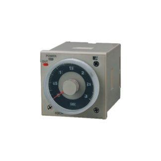 Αναλογικό χρονικό πόρτας πίνακος & εντεκάποδης βάσης 0,05sec-300h 2 επαφές τάση 230V τύπος H3CR-A 309-031100230-