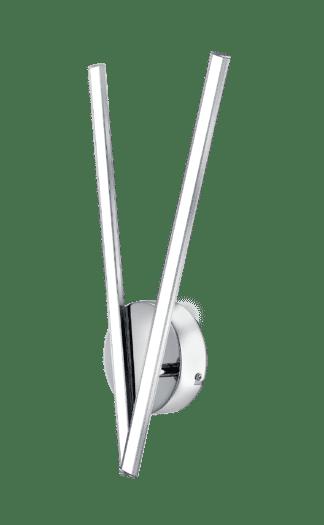 Απλίκα LED 2x5W Χρώμιο & Λευκό Χρώμα Parri 96321