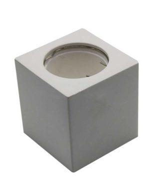 Γύψινο εξωτερικό φωτιστικό Spot GU10 Τετράγωνο Λευκό σώμα V-TAC 3664