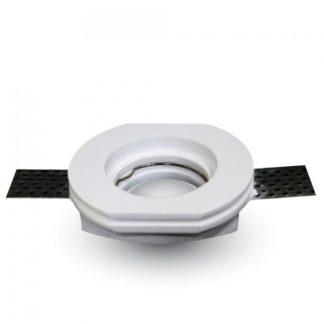 Γύψινο χωνευτό φωτιστικό Spot GU10 Στρογγυλό Λευκό σώμα V-TAC 3650
