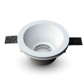 Γύψινο χωνευτό φωτιστικό Spot GU10 Στρογγυλό Λευκό σώμα V-TAC 3654