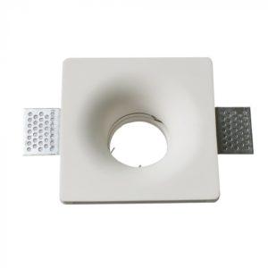 Γύψινο χωνευτό φωτιστικό Spot GU10 Τετράγωνο Λευκό σώμα V-TAC 3674