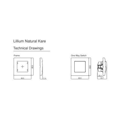 Διακόπτης Απλός Χωνευτός Makel Lillium 32001101