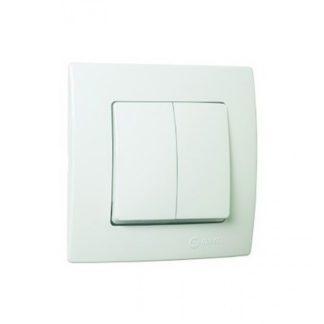 Διακόπτης Διπλός AR Χωνευτός Λευκό Makel Lillium 32001126
