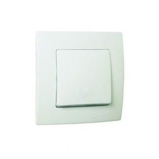 Διακόπτης Μεσαίος ΑR Χωνευτός Λευκό Makel Lillium 32001120