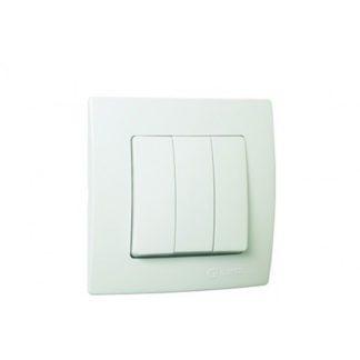 Διακόπτης Τριπλός Χωνευτός Λευκό Makel Lillium 32001091
