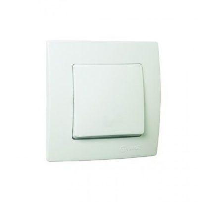 Διακόπτης AR Χωνευτός Λευκός Makel Lillium 32001105