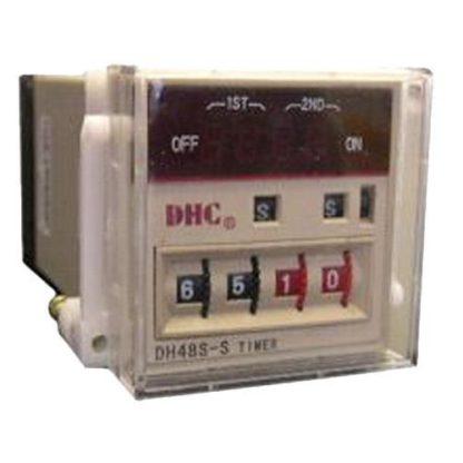 Διπλό ψηφιακό χρονικό πόρτας πίνακος & οκτάποδης βάσης 0,1sec-99h 1 μεταγωγική επαφή πολυτασικό τύπο 309-060200230